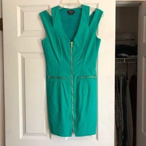 Bebe aqua dress